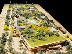 A model of Facebook's new headquarters, designed by Frank Gehry.