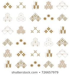 Find Japanese Icon Pattern Vector Gold Geometric stock images in HD and millions of other royalty-free stock photos, illustrations and vectors in the Shutterstock collection. Textile Pattern Design, Textile Patterns, Pattern Art, Kimono Pattern, Japan Icon, Japanese Background, Geometric Symbols, Japanese Patterns, Retro Color