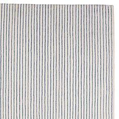 Pencil Stripe Rug – Chambray | Serena & Lily