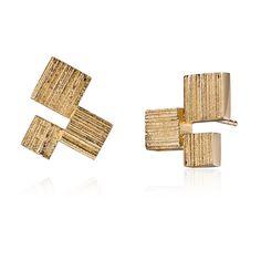 AMORE  Design Björn Weckström / Gold Earrings / Lapponia Jewelry / Handmade in Helsinki