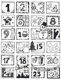заготовка адвент календарь: 12 тыс изображений найдено в Яндекс.Картинках