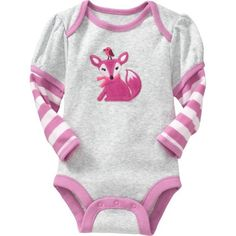 Old Navy Animal Graphics Bodysuits For Baby (4.87 AUD) ❤ liked on Polyvore featuring baby, baby clothes, baby girl, baby stuff, baby girl clothes and girls