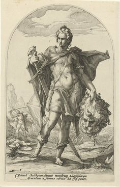 David, Hero of the Old Testament by Jacob Matham, 1585-1589. Rijksmuseum, Public Domain