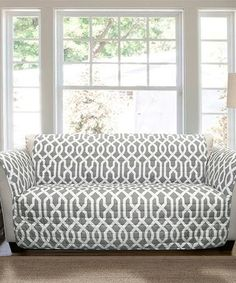 Love this Gray Edward Trellis Love Seat Protector on #zulily! #zulilyfinds