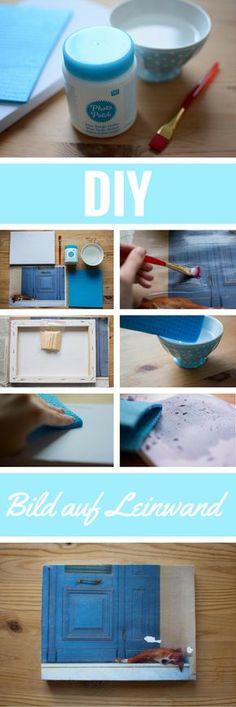 DIY Anleitung für das Drucken auf Leinwand mithilfe von Foto-Transferkleber