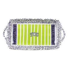 Texas Christian University Ceramic Stadium Platter