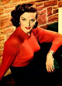 Jane Russell with her bullet boob bra