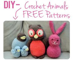 DIY Crochet Animals - I don't have the abilities to do something like this...but grandma does! :)