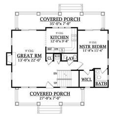 Craftsman Farmhouse, Craftsman Style House Plans, Country House Plans, Guest Cottage Plans, Cottage Style House Plans, Cottage Style Homes, Farmhouse Style, Home Design, Tiny House Design