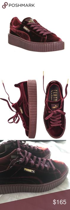 Puma x FENTY by Rihanna, Burgundy, Size 8.5 These are burgundy Puma Fenty Creepers by Rihanna, size 8.5, perfect condition. Comes with original dust bag.  Please let me know if you have any questions! Puma Shoes