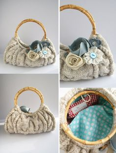 Upcycled Sweater Purse | upcycled sweater into purse...excellent idea, Little Miss ... | Creat ...
