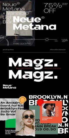 #typography #typeface #modern #graphic Graphic Design Layouts, Graphic Design Posters, Layout Design, Sistema Visual, Minimalist Design, Modern Minimalist, Geometric Type, Best Banner, Social Media Design