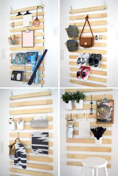 How to Fit a Whole Lot of Storage Into a Foot or Two of Wall Space