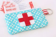 Emergency Zippered Pouch:  adorable idea.