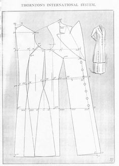 A calf-length New Yoke Seam Sac coat. A 'yoke' would be the top portion of a gown or blouse from which the majority of the fabric of the rest of the piece hangs from. With a coat, it means the lines down the front of the coat section the coat off stylistically. Mid to late #1910s #patterninlink