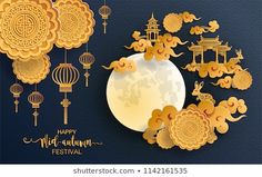 Find Mid Autumn Festival Paper Cut Art stock images in HD and millions of other royalty-free stock photos, illustrations and vectors in the Shutterstock collection. Happy Mid Autumn Festival, Spring Festival, Origami Paper Art, Paper Crafts, Arts And Crafts, Cardboard Sculpture, Paper Artwork, Oriental Pattern, China Art