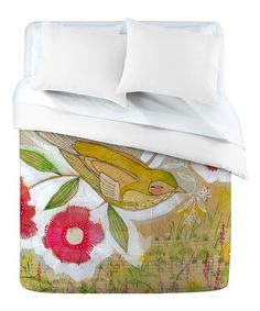 Take a look at this Sweet Meadow Bird Cori Dantini Duvet Cover by DENY Designs on #zulily today!