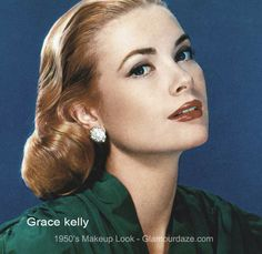 Grace Kelly - the classic face. A history of make-up in the 1950s Hair And Makeup, Vintage Makeup Looks, Retro Makeup, Makeup Geek, Grace Kelly, 1950s Hairstyles, Vintage Hairstyles, Dorothy Dandridge, 1950s Make Up