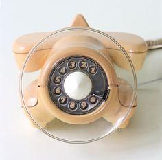 Avion Vintage téléphone Alexander Graham Rotary Dial par bellalulu, $68.00