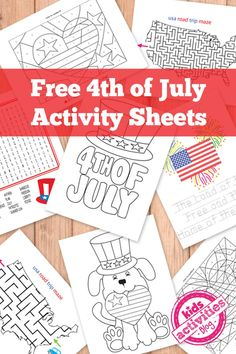 Free of July Kids Activity Printables of July free activity printables will keep your kids busy while you prepare for celebration! Kids can solve puzzle mazes, word search puzzles and more!