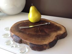 Walnut Cutting BoardWalnut Cheese BoardLive Edge by SerenityStumps