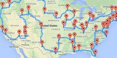 Just in time for the National Park Service's 100th anniversary! // map of all 47 national parks road trip