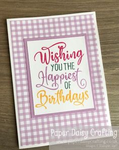 Paper Daisy Crafting: #16 Card Making for Beginners - stamping with Stampin Write markers Make Tutorial, Mini Album Tutorial, Card Tags, I Card, Paper Daisy, Card Maker, Thank You Gifts, Mini Albums, Markers