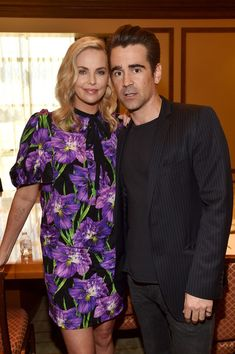 Actors Charlize Theron (L) and Colin Farrell at CinemaCon 2017- Focus Features: Celebrating 15 Years and a Bright Future at Caesars Palace during CinemaCon, the official convention of the National Association of Theatre Owners, on March 29, 2017 in Las Vegas Nevada.