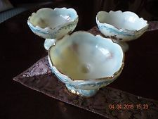 Antique Northwood custard Opaque berry bowls (3)