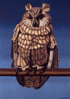 Edward McGuire, Owl, 1973, Oil on canvas, 86.36 x 60.96 cm, Collection Irish Museum of Modern Art, Heritage Gift, P.J. Carroll & Co. Ltd. Art Collection, 2005
