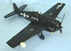 Eduard 1/48 F6F-5N Hellcat, by Tom Cleaver - He was then transferred to VMF(N)-544 at MCAS Cherry Point to undergo night fighter training on the F6F Hellcat.  On June 15, 1945, he scored two victories over Japanese intruders