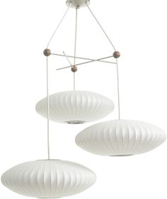George Nelson Bubble Lamp- light fixture in stairwell Pendant Light Fixtures, Pendant Lighting, Pendant Lamps, Pendants, Bubble Chandelier, Nelson Bubble Lamp, George Nelson, Modern Lighting, Beach Lighting