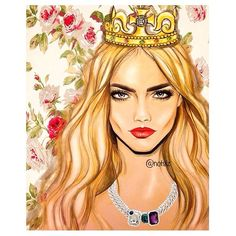Illustration of @caradelevingne #CaraDelevingne
