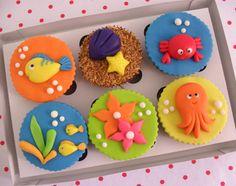 Cupcake Fundo do Mar