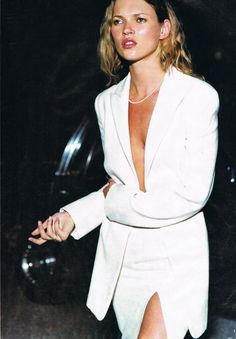 Kate Moss in a sexy white look #style #fashion