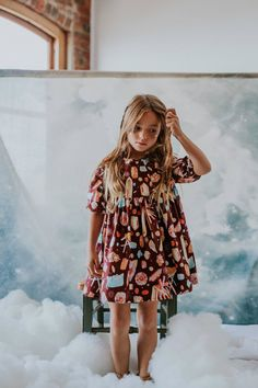 Geode Cotton Dress by Charliebirdkid