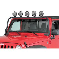 Here's a great way to add more lighting to your Wrangler! These easy to install No-Drill bars feature 5 light mount tabs. Jeep Wrangler Lights, Jeep Wrangler Off Road, Jeep Wrangler Rubicon, Jeep Jk, Jeep Light Bar, Jeep Lights, Honda Civic Si, Mitsubishi Lancer Evolution, Honda S2000