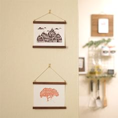 Display your favorite cards or prints in a removable, inexpensive wood frame!