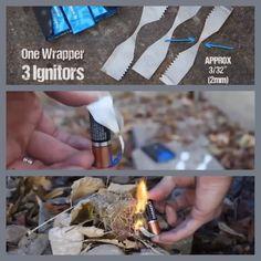 Gum Wrapper Fire Starter