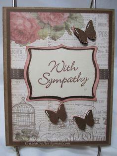 #Cricut Elegant Edges Sympathy Card