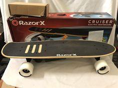 18be82fa402 RAZOR X CRUISER ELECTRIC SKATEBOARD 125w Litium Ion Remote GO! |Razor