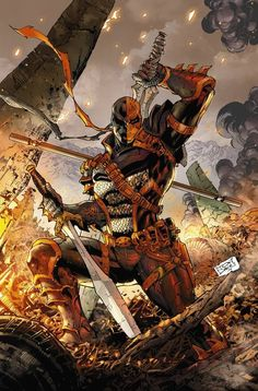 Tony Daniel's Deathstroke comic book series is really cool. Deathstroke is a real badass Héros Dc Comics, Heros Comics, Dc Comics Characters, Dc Heroes, Comic Book Heroes, Comic Books Art, Comic Art, Comic Pics, Image Comics