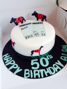 Dog racing cake