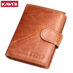 Promotion price KAVIS 100% Genuine Leather Men Wallets Crazy Horse Male Coin Purse Vintage Credit Card Holder With Pocket Portomonee Walet Small just only $13.84 with free shipping worldwide  #walletsformen Plese click on picture to see our special price for you