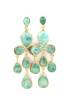 Water Blue Lucite Earrings