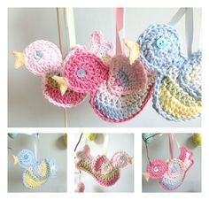 Little crochet birds on my Easter twigs with handpainted Easter eggs. My perfect homemade Easter decoration!