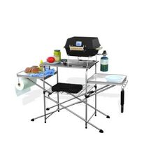 This folding grilling table is a must-have for any tailgating party or camping trip. If you like to grill when take trips with your RV, you'll wonder how you got along without this. The table is easy to set-up for outdoor cooking, and break down for easy storage.