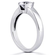 Solitaire Engagement Ring: Platinum ring just waiting for the right diamond to be set! Wish I had seen this first time around!