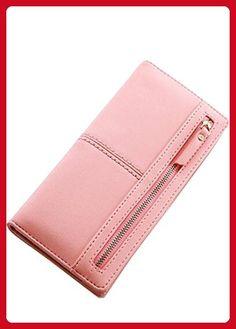 64a1cd879b5e98 Women Leather Long 2-fold Wallet Clutch Vintage Retro Purse Large Billfold  Pink - Wallets (*Amazon Partner-Link)