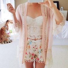 This outfit is to cute it's would be perfect for a hot day and also to go out with your friends